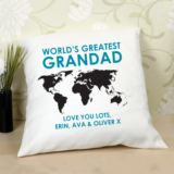 Personalised World's Greatest Grandad Cushion