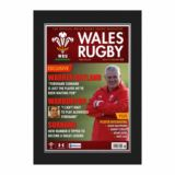 Welsh Rugby Union Magazine Cover Framed Print