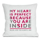 Personalised My Heart Is Perfect Cushion