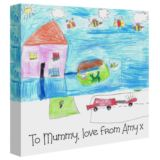Your Childs Artwork on a Canvas Print