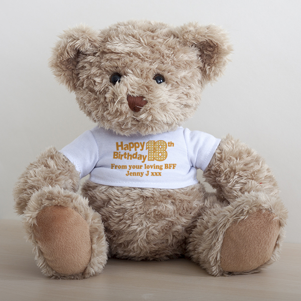18th Birthday Personalised Honey Bear
