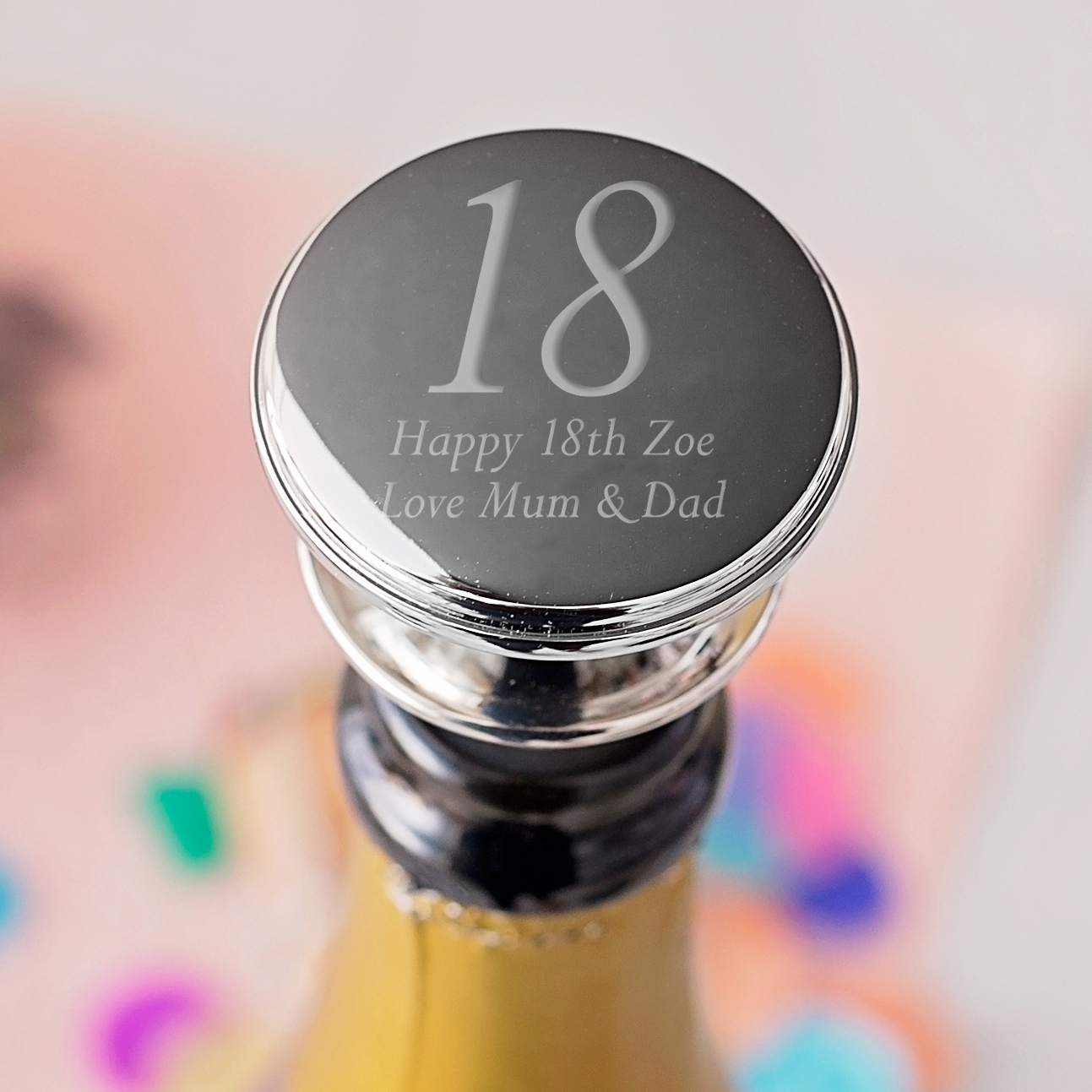 18th Birthday Personalised Wine Bottle Stopper - 18th gift