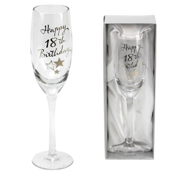 18th Birthday Champagne Flute - 18th Birthday Gifts