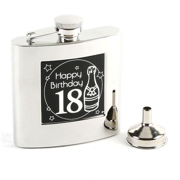 18th Birthday Hip Flask & Funnel