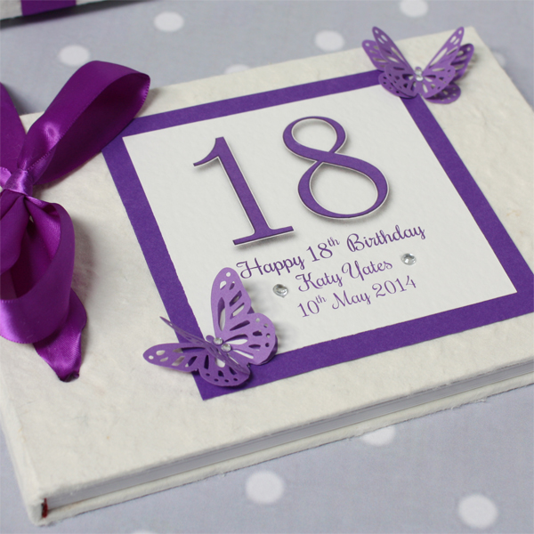 Personalised 18th Birthday Handmade Photo Album - 18th Birthday Gifts