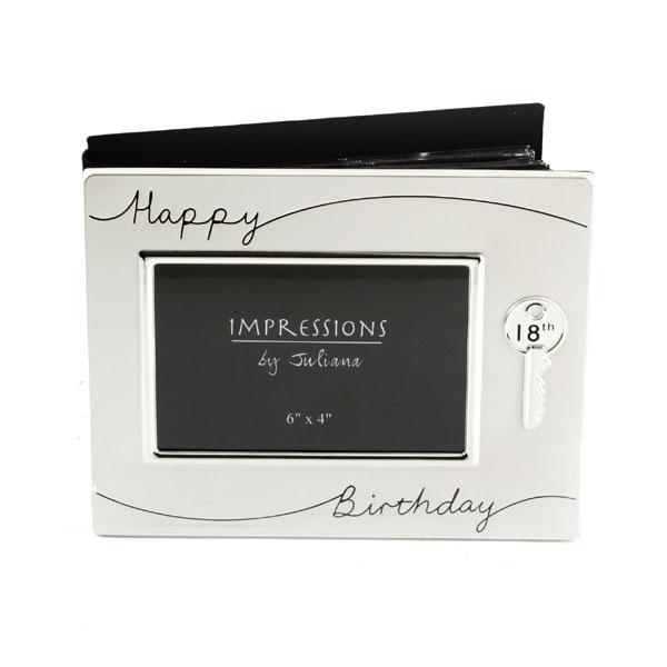 18th Birthday Silver Plated Photo Album - 18th Birthday Gifts