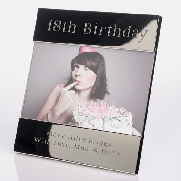 Engraved 18th Birthday Photo Frame - 18th gift