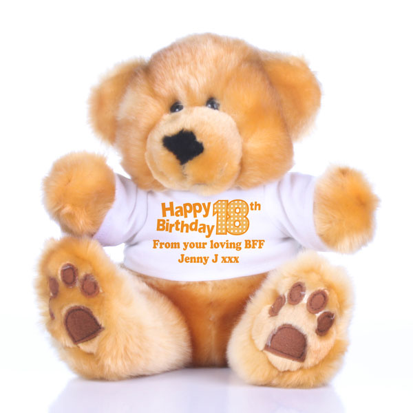 18th Birthday Personalised Honey Bear - 18th Birthday Gifts