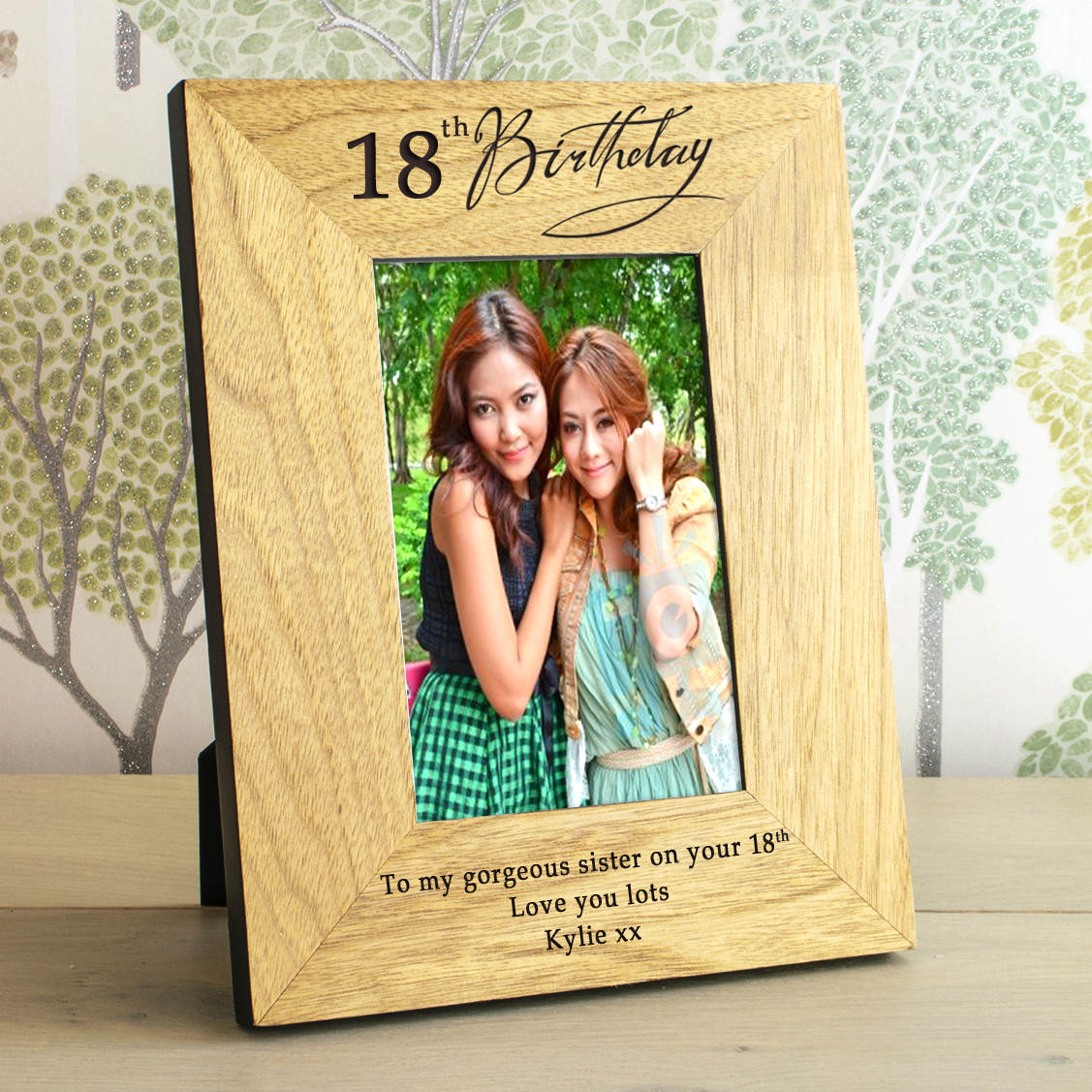 18th Birthday Wooden Personalised Photo Frame The Gift Experience