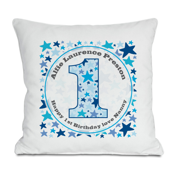 Personalised Boys 1st Birthday Cushion - 1st Birthday Gifts