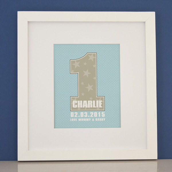 Personalised Boys First Birthday Framed Print - 1st Birthday Gifts