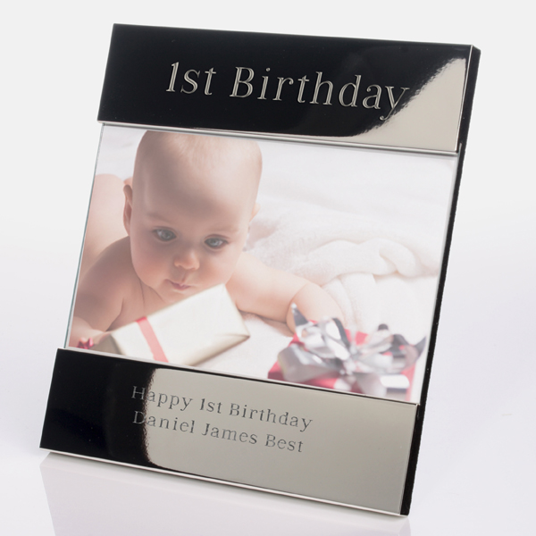 Engraved 1st Birthday Photo Frame