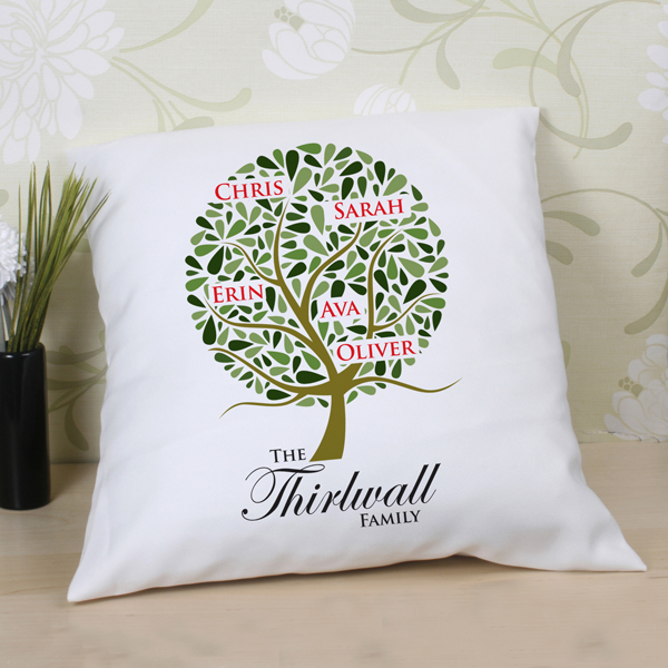 Family Tree Personalised Cushion | The Gift Experience