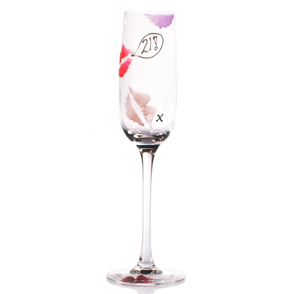 Special Birthday Kisses Flutes 21st - 21st Gifts