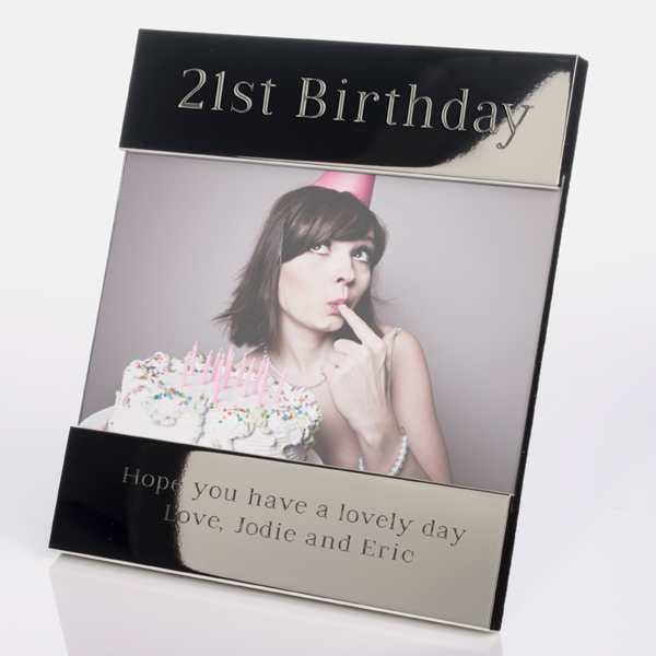 Engraved 21st Birthday Photo Frame - 21st gift