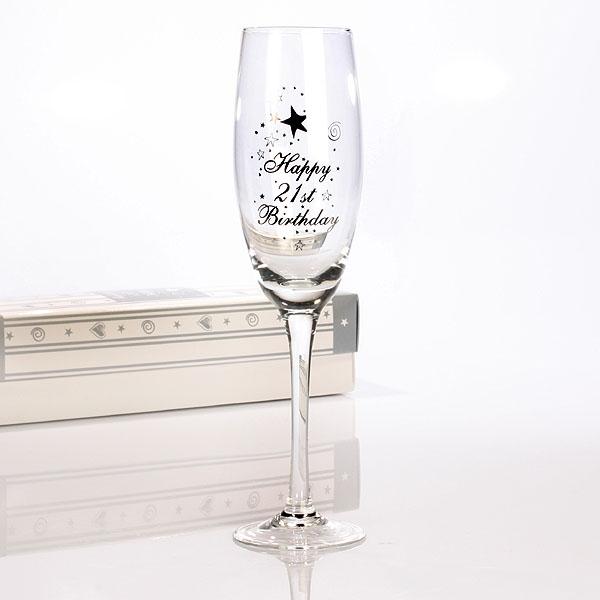 21st Birthday Champagne Flute - 21st gift