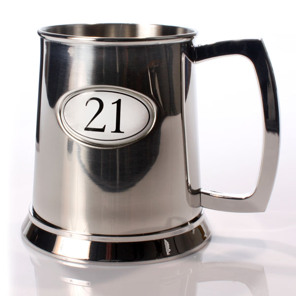 Personalised Age 21 Pint Tankard - 21st gift