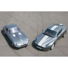 Jaguar E Type and Aston Martin Driving Thrill
