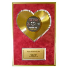 "Heart of Gold 10"" Disc with Personal Message"