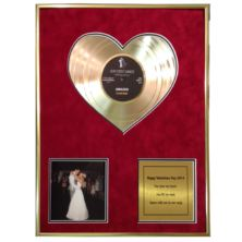 "Heart of Gold 12"" Disc with Photo and Message"