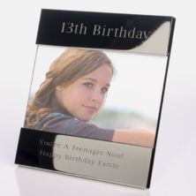 Engraved 13th Birthday Photo Frame
