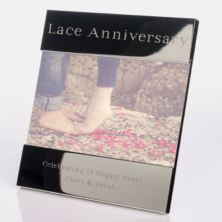 Engraved 13th (Lace) Anniversary Photo Frame