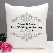 Personalised First Anniversary Cushion