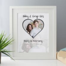 Personalised 1st Wedding Anniversary (Paper) Framed Photo Print