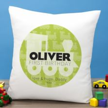 Personalised First Birthday Train Cushion