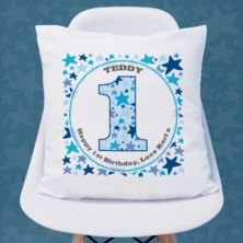 Personalised Boys 1st Birthday Cushion