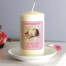 Personalised 1st Mother's Day Photo Candle