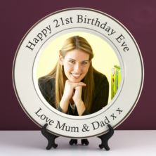 Personalised 21st Birthday Photo Plate