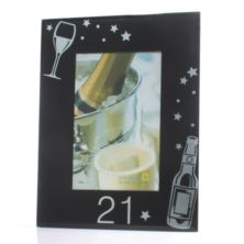 Black Glass 21 Photo Frame