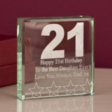 21st Birthday Keepsake