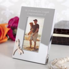 Personalised Photo Frame With Rose Gold Dragonfly Motif