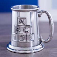 Childrens Engraved ABC Pewter Tankard