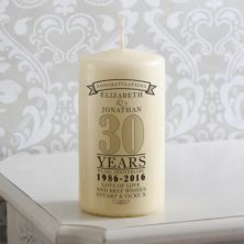 Personalised 30th Anniversary Candle