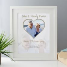 Personalised Pearl Anniversary Framed Photo Print