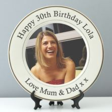 Personalised 30th Birthday Photo Plate