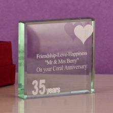 35th coral anniversary keepsake