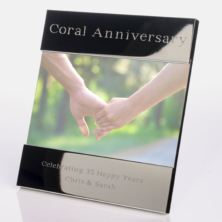 Engraved 35th (Coral) Anniversary Photo Frame