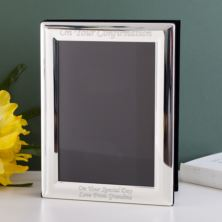 Engraved Silver Plated Confirmation Photo Album