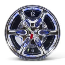 Neon Wheel Rim Wall Clock
