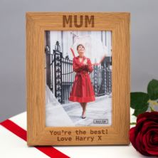 Personalised New England Oak 5 x 7 Photo Frame