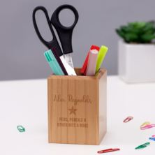 Luxury Personalised Maple Wood Pen Holder