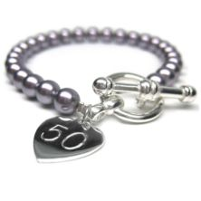 50th Birthday Personalised Harmony Bracelet