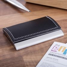 Curved Leather Business Card Case