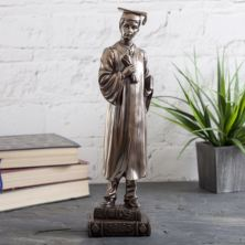 Male Bronze Graduation Figurine