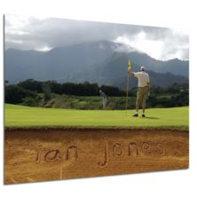 Personalised Golf Bunker Poster