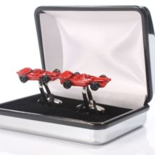 Personalised Red Racing Car Cufflinks
